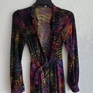 Wrap Multi colored Dress Maggy London